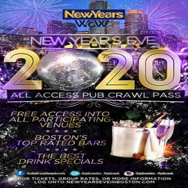 Boston New Year's Eve All Access Pub Crawl Pass NYE (Faneuil Hall) in Boston on 31 Dec
