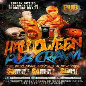 New York City Halloween Weekend Fright Night 3 Day Pub Crawl - October 2019 in New York on Friday, October 25, 2019