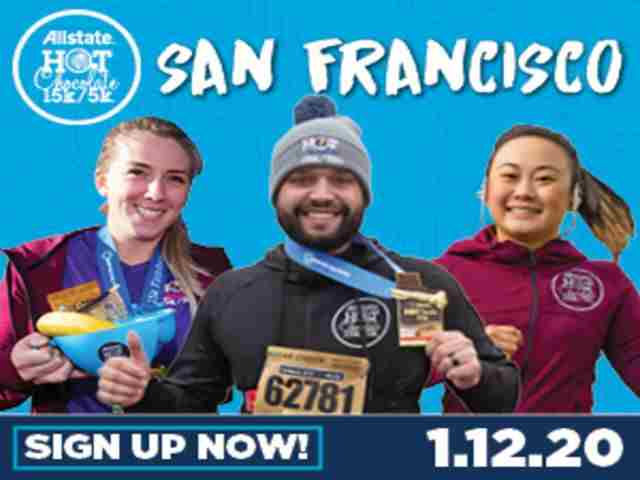 2020 Allstate Hot Chocolate 15k/5k San Francisco in San Francisco on Sunday, January 12, 2020