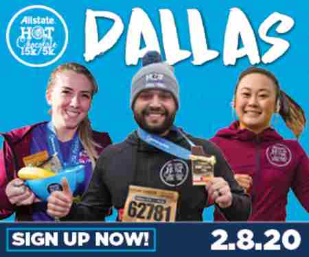 2020 Allstate Hot Chocolate 15k/5k Dallas in TX on 8 Feb