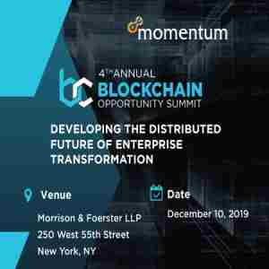 4th Blockchain Opportunity Summit in New York on 10 Dec