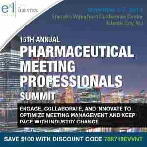 15th Pharmaceutical Meeting Professionals Summit in Atlantic City on 6 Nov