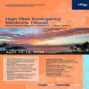 High Risk Emergency Medicine 2020 in Wailea-Makena on 14 Apr