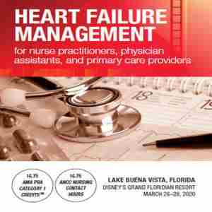 Heart Failure Management for NP, PA, and Primary Care Providers in Bay Lake on 26 Mar