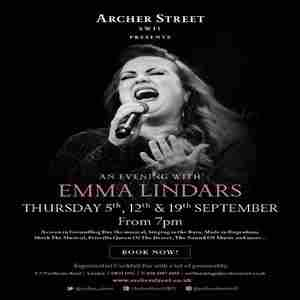 An Evening with Emma Lindars in London on 5 Sep