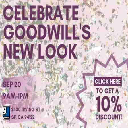 Celebrate Goodwill's New Look in San Francisco on Friday, September 20, 2019
