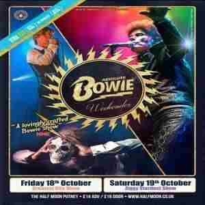 Absolute Bowie:  Greatest Hits Live at Half Moon Putney London  Fri 18 Oct in London on Friday, October 18, 2019