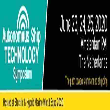 Autonomous Ship Technology Symposium 2020, The Netherlands - June 23 - 25 in Amsterdam on 23 Jun
