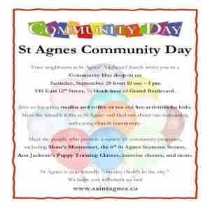 St Agnes Church Community Day in North Vancouver on 28 Sep