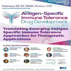 3rd Antigen Specific Immune Tolerance Summit in Boston on 25 Feb