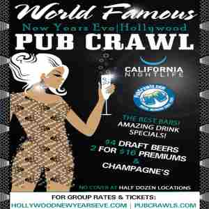 Hollywood LA New Year's Eve All Access Pub Crawl Pass 2020 in Los Angeles on 31 Dec