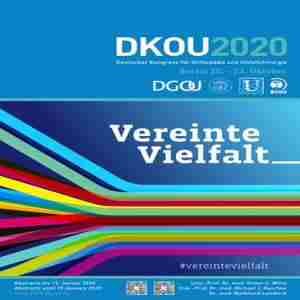 DKOU 2020 - German Congress of Orthopaedics and Traumatology in Berlin on 20 Oct