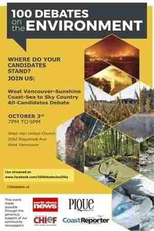 All Candidates Debate on the Environment in West Vancouver on 3 Oct