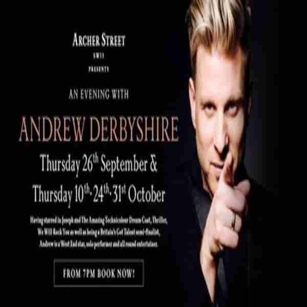An Evening with Andrew Derbyshire in London on 27 Sep