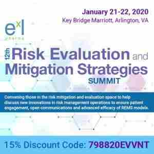 12th Risk Evaluation and Mitigation Strategies Summit (REMS) in Arlnigton Virginia on Tuesday, January 21, 2020