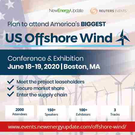 5th Annual US Offshore Wind 2020 Conference and Exhibition, Boston, MA, USA in Boston on 18 Jun