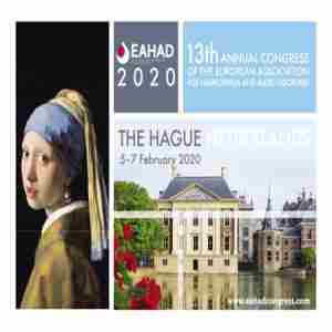 13th EAHAD Congress | 5-7 February 2020 | The Hague, Netherlands, EAHAD2020 in Den Haag on 5 Feb