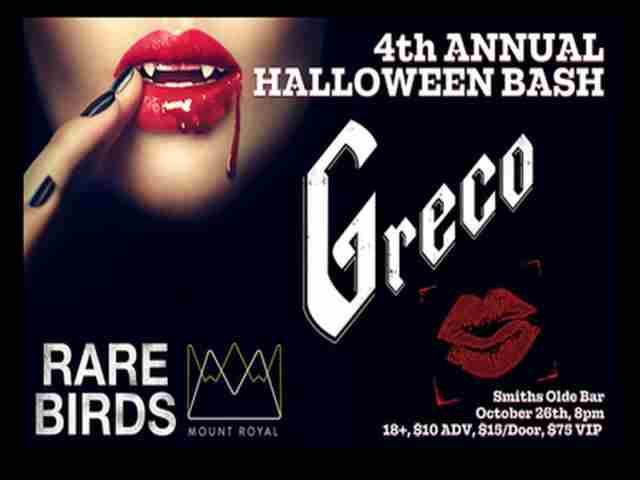 Greco 4th Annual Halloween Bash with Rare Birds in Atlanta on 26 Oct