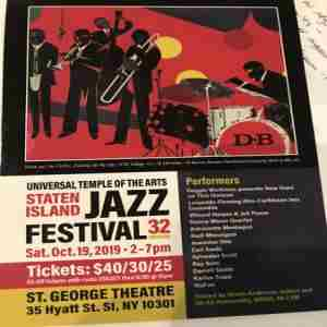 Universal Temple of the Arts Staten Island JAZZ Festival 32 in Staten Island on 19 Oct