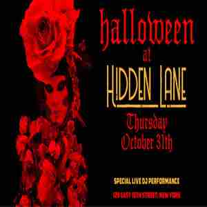 Halloween Party at The Hidden Lane 10/31 in New York on 31 Oct