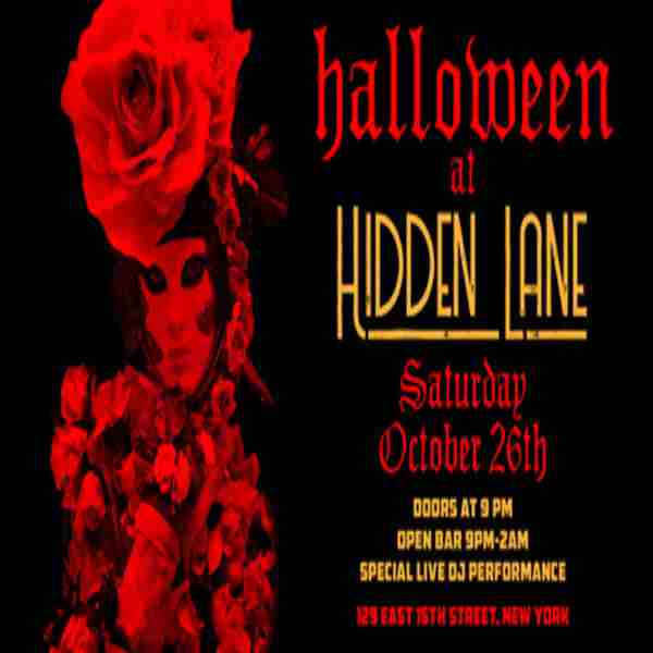 Joonbug.com Presents the Hidden Lane Halloween Party in New York on 26 Oct