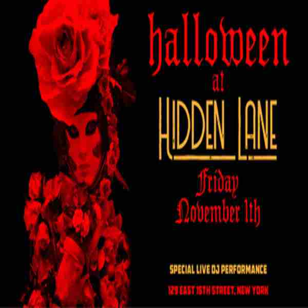 The Official Hidden Lane Halloween After Party in New York on 1 Nov