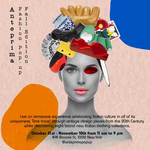 Anteprima Fashion Pop-Up in Manhattan on 31 Oct