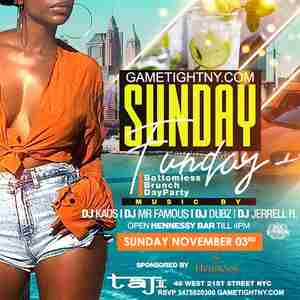 Taj Lounge NYC Hip Hop vs. Reggae Sunday Funday Brunch & FREE Day Party in New York on 3 Nov