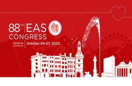 EAS 2020, Geneva - 88th Congress of the European Atherosclerosis Society in Le Grand-Saconnex on 4 Oct