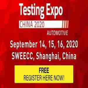 Automotive Testing Expo China 2020 - September 14-16 - Shanghai, China in Pudong Xinqu on 14 Sep
