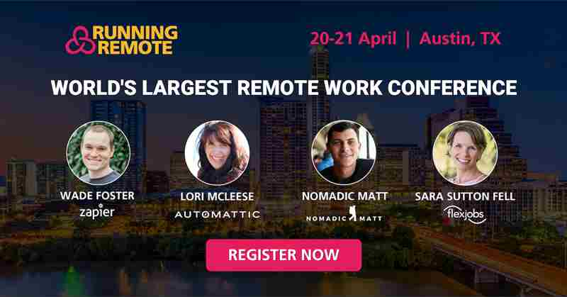 Running Remote Conference 2020 in Austin on 20 Apr