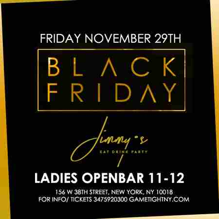 Jimmy's NYC Black Friday Openbar party 2019 in New York on 29 Nov