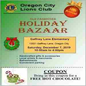 12th Annual Old Fashioned Holiday Bazaar - Oregon City Lions in Oregon City on 7 Dec