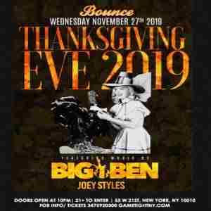 Bounce Sporting Club Thanksgiving Eve Party 2019 in New York on 27 Nov