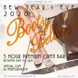 Bootsy Bellows New Years Eve 2020 Party in West Hollywood on 31 Dec