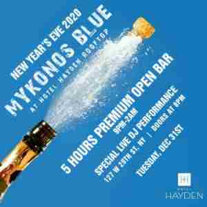 Mykonos Blue New Years Eve 2020 in New York on 31 Dec