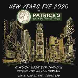 Patrick's Times Square New Years Eve 2020 Party in New York on 31 Dec