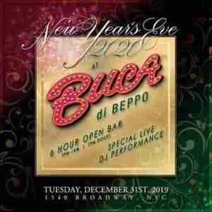 Buca di Beppo Times Square New Years Eve 2020 Party in New York on 31 Dec