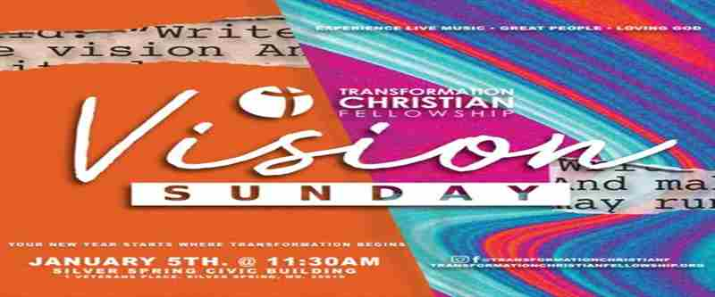 TCF Vision Sunday in Silver Spring on Sunday, January 5, 2020