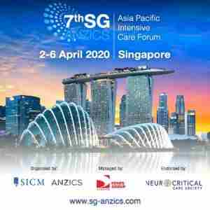 SG-ANZICS 2020: 7th SG-ANZICS Asia Pacific Intensive Care Forum in Singapore on 2 Apr