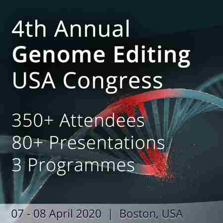 4th Annual Genome Editing USA Congress in Boston on 7 Apr