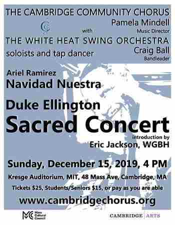 Duke Ellington Sacred Concert: Cambridge Community Chorus in Cambridge on 15 Dec