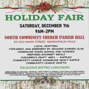 Marshfield's North Community Church Holiday Fair in Marshfield Hills on 7 Dec