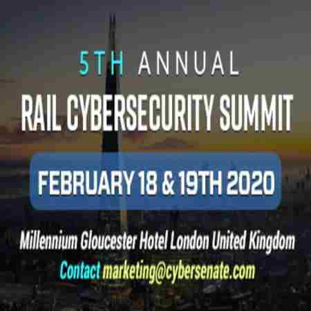 Rail Cyber Security Summit in London on 18 Feb