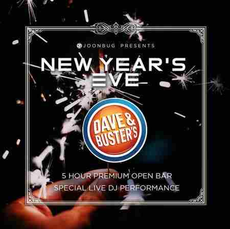Dave and Buster's New Years Eve 2020 Party in New York on 31 Dec