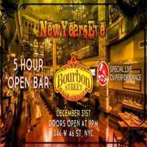 Bourbon Street Dinner (5pm to 7pm) in New York on 31 Dec