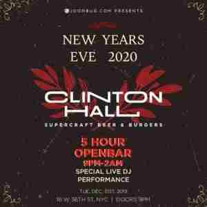 Clinton Hall New Years Eve 2020 Party in New York on 31 Dec
