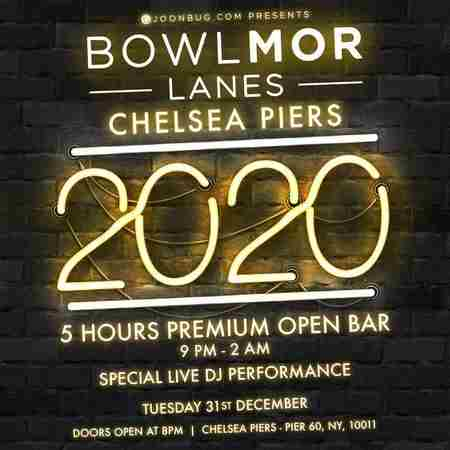 Bowlmor Chelsea Piers New Years Eve 2020 Party in New York on 31 Dec