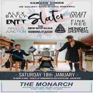 Camden Rocks All-Dayer w/ Slater and more at The Monarch in Greater London on Saturday, January 18, 2020