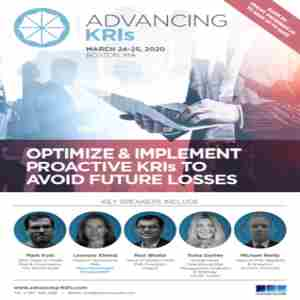 Advancing KRIs Summit | March 24-25, 2020 | Boston, MA in Boston on 24 Mar